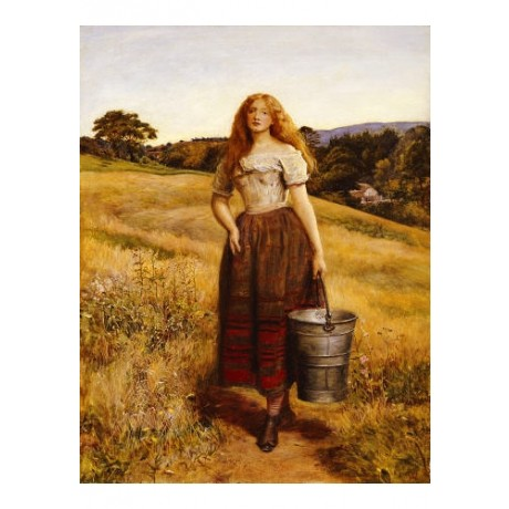"SIR JOHN EVERETT MILLAIS ""Farmer's Daughter"" print choose SIZE, from 55cm up"