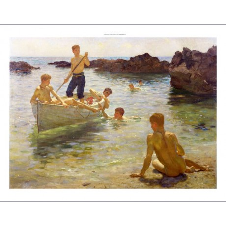 "HENRY SCOTT TUKE ""Morning Splendour"" new CANVAS print! various SIZES, BRAND NEW"