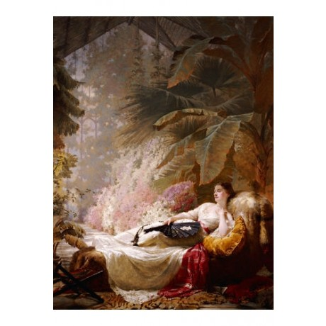 GEORGE ELGAR HICKS Portrait Woman CANVAS ART ! choose SIZE, from 55cm up, NEW
