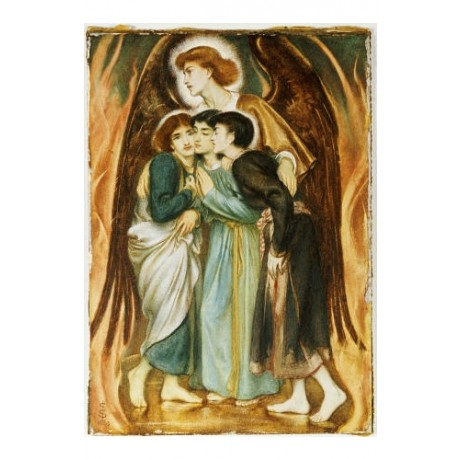"SIMEON SOLOMON ""A Protecting Angel"" print religious various SIZES available, NEW"