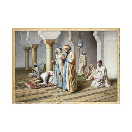 "FREDERICO BARTOLINI ""Arabs At Prayer"" Religious Print various SIZES, BRAND NEW"