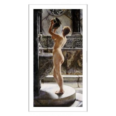 "JOHN REINHARD WEGUELIN ""Bath"" nude portrait ON CANVAS various SIZES, BRAND NEW"