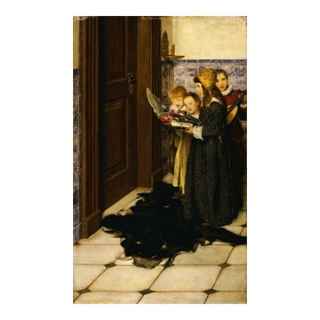 "LADY LAURA ALMA-TADEMA ""A Carol"" Music Art Print choose your SIZE, from 55cm up"