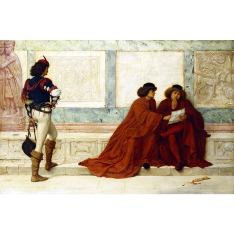 HENRY WALLIS Despatch from Trebizond SHAKESPEARE news courier NEW CANVAS PRINT