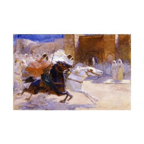 """ULPIANO CHECA Y SANZ """"Fantasia"""" Battle ON CANVAS choose SIZE, from 55cm up, NEW"""