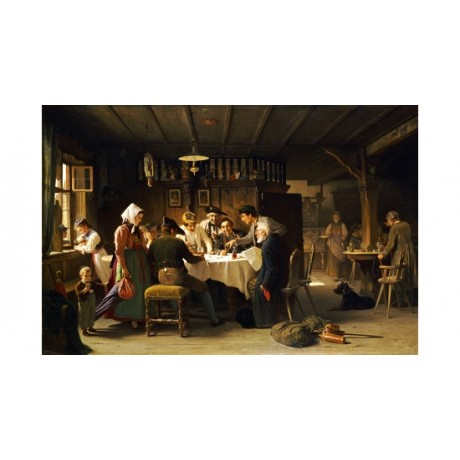 "MAX KALTENMOSER ""A Game Of Dice"" People CANVAS ART ! various SIZES available"