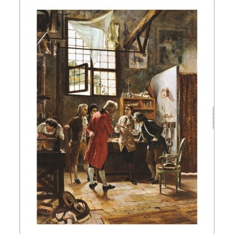 "PIETRO GABRINI ""Inventor's Laboratory"" CANVAS ART ! various SIZES available, NEW"