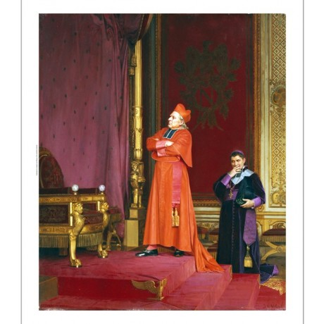 JEAN GEORGES VIBERT Cardinal Napoleon's Throne CANVAS various SIZES, BRAND NEW