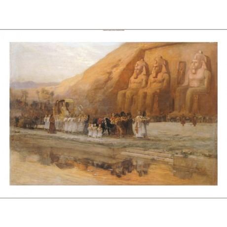FREDERICK ARTHUR BRIDGMAN Abou Simbel Egypt PRINT choose SIZE, from 55cm up, NEW