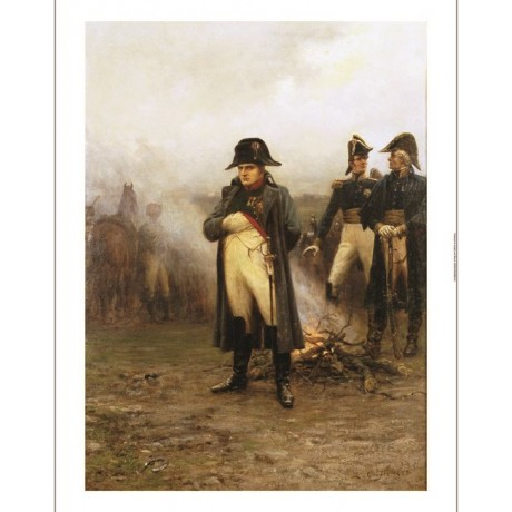 """ERNEST CROFTS """"Napoleon"""" Military print ON CANVAS choose SIZE, from 55cm up, NEW"""