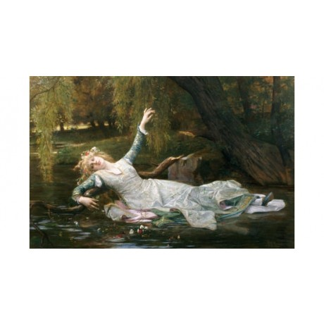 "ALEXANDRE CABANEL ""Ophelia"" Shakespeare ON CANVAS choose SIZE, from 55cm up, NEW"