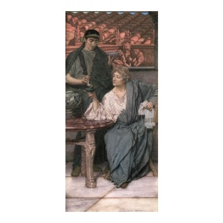 "SIR LAWRENCE ALMA-TADEMA ""Roman Wine-Tasters"" PRINT various SIZES available, NEW"
