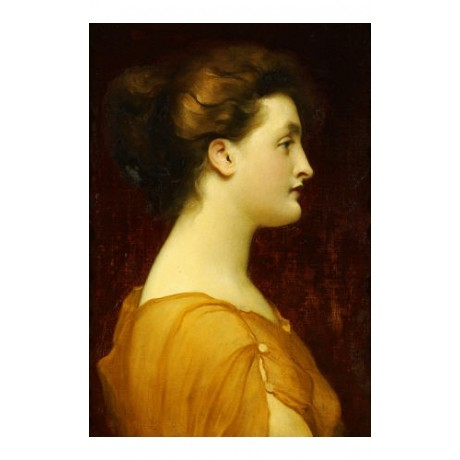 "FREDERIC, LORD LEIGHTON ""Candida"" portrait ON CANVAS various SIZES available"