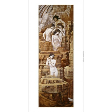 "SIR EDWARD COLEY BURNE-JONES ""Hill Fairies"" Nude Print various SIZES, BRAND NEW"