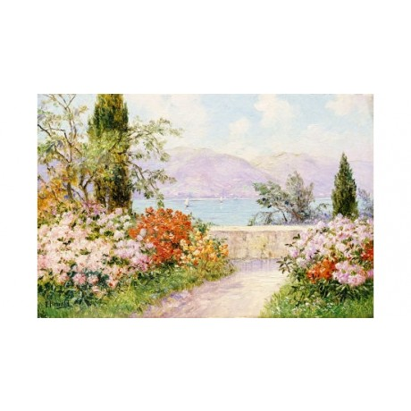 "FRIEDERICH ARNOLD ""Gardens Lake Como"" Italy PRINT choose SIZE, from 55cm up, NEW"
