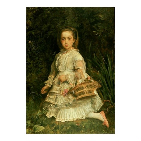 JOHN EVERETT MILLAIS Portrait Girl PRINT ON CANVAS choose SIZE, from 55cm up