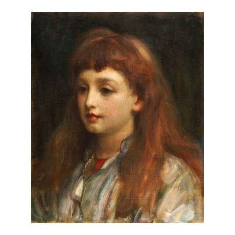 "FREDERIC, LORD LEIGHTON ""Portrait Of A Young Girl"" NEW various SIZES, BRAND NEW"