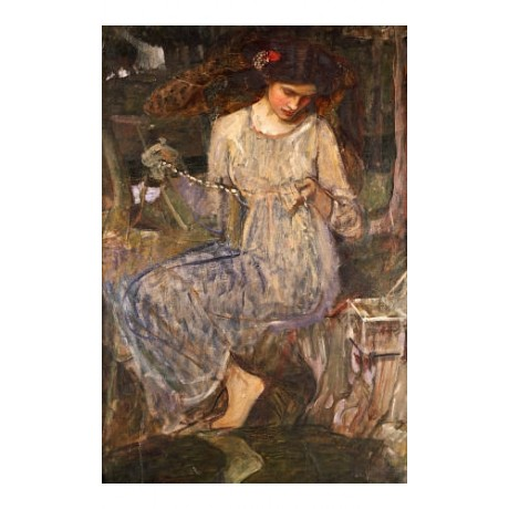 "JOHN WILLIAM WATERHOUSE ""Necklace"" PRINT ON CANVAS choose SIZE, from 55cm up"