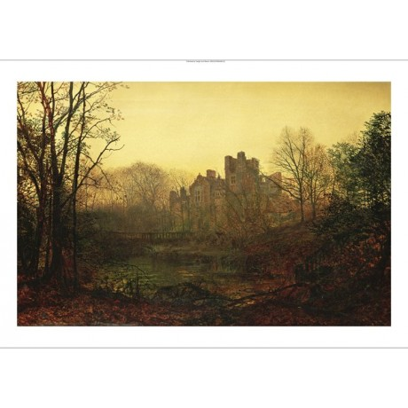 "JOHN ATKINSON GRIMSHAW ""An October Afterglow"" ON CANVAS various SIZES, BRAND NEW"