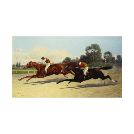 """HENRY STULL """"The Great $10,000 Match"""" RACING new canvas various SIZES, BRAND NEW"""