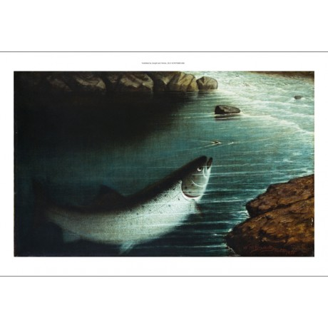 "WALTER BRACKETT ""The Rise"" fishing new CANVAS print! various SIZES available"