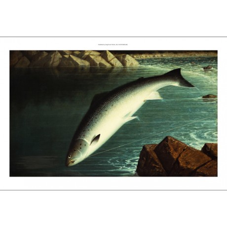 "WALTER BRACKETT ""The Leap"" fishing new print on CANVAS! various SIZES, BRAND NEW"