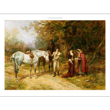 "HEYWOOD HARDY ""Fortune Teller"" horse PRINT ON CANVAS various SIZES available"