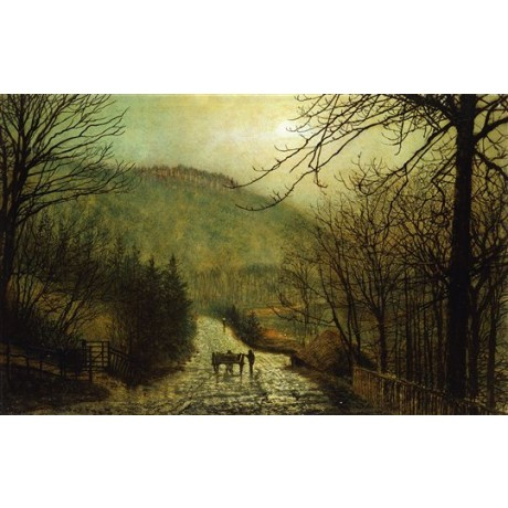 John Atkinson GRIMSHAW Forge Valley, Scarboro' STUNNING NEW CANVAS PRINT giclee