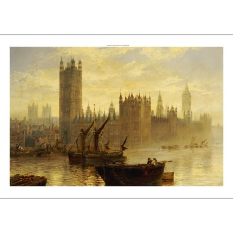 "CLAUDE T. STANFIELD MOORE ""Westminster"" CANVAS ART choose SIZE, from 55cm up"