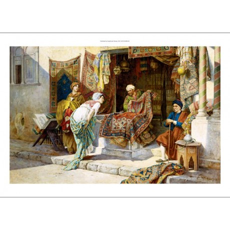 "F. BALLESIO ""The Carpet Merchant"" arabs new CANVAS! various SIZES available, NEW"