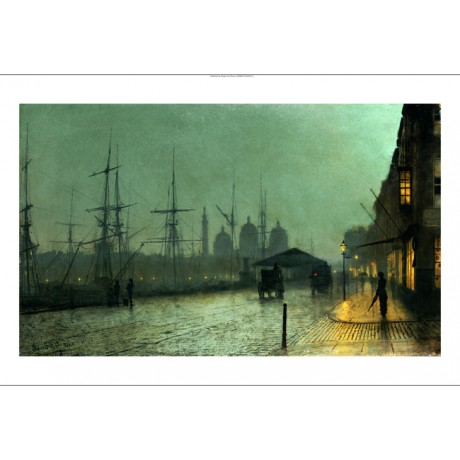 "JOHN ATKINSON GRIMSHAW ""Humber Dockside, Hull"" Print various SIZES available"