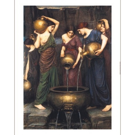 "JOHN WILLIAM WATERHOUSE ""Danaides"" NUDE ON CANVAS choose SIZE, from 55cm up, NEW"