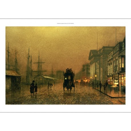 "JOHN ATKINSON GRIMSHAW ""Liverpool Docks"" PRINT choose SIZE, from 55cm up, NEW"