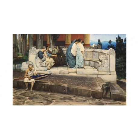 "LAWRENCE ALMA-TADEMA ""An Exedra"" new print on CANVAS! various SIZES, BRAND NEW"