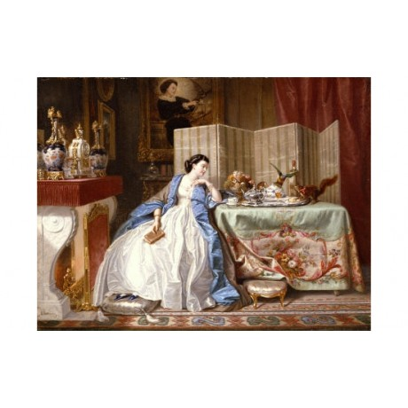 "ALPHONSE CARRIERE ""Fireside Distractions"" Woman print various SIZES, BRAND NEW"