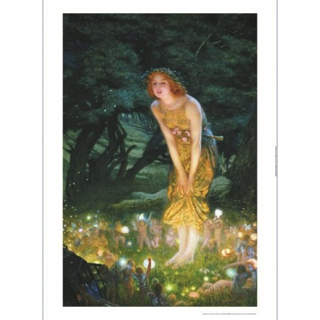 "EDWARD ROBERT HUGHES ""Midsummer Eve"" Fairy various SIZES"