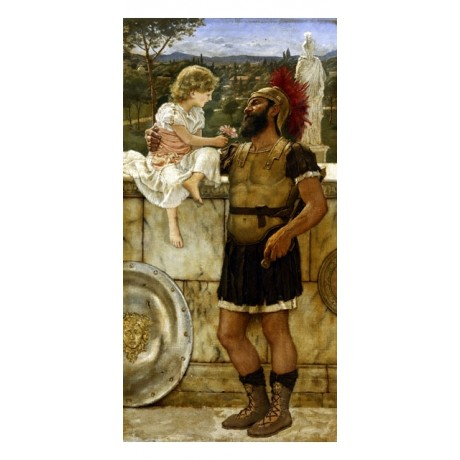 "JOHN GODWARD ""The Centurion's Return"" AFFECTION girl flower armour CANVAS PRINT"