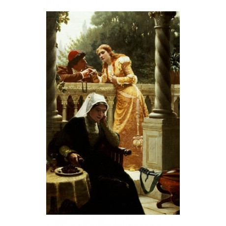 EDMUND BLAIR LEIGHTON A Stolen Interview CANVAS ART various SIZES available, NEW