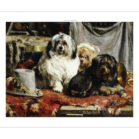 "CHARLES VAN DEN EYCKEN ""Circus Entertainers"" Dogs PRINT various SIZES, BRAND NEW"