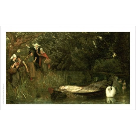 "ARTHUR HUGHES ""Lady Of Shalott"" PRINT ON CANVAS choose SIZE, from 55cm up, NEW"
