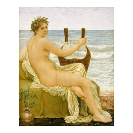 """HENRY HOLLIDAY """"Music"""" nude music print ON CANVAS choose SIZE, from 55cm up, NEW"""