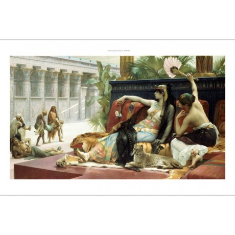 ALEXANDRE CABANEL Cleopatra Egypt PRINT ON CANVAS choose SIZE, from 55cm up, NEW