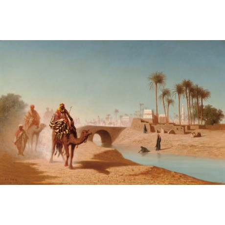 "CHARLES THEODORE FRERE ""The Departure"" desert camel various SIZES available, NEW"