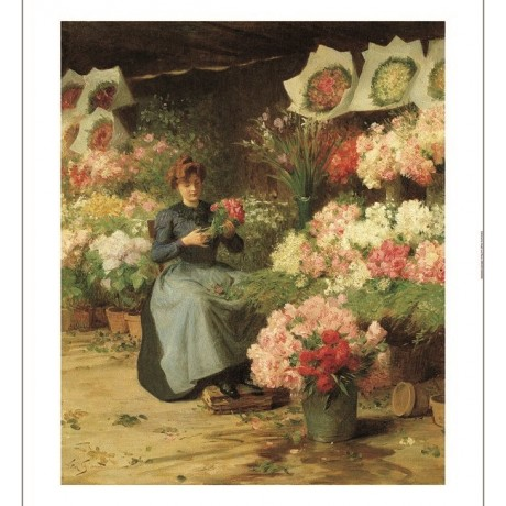 VICTOR-GABRIEL GILBERT Flower Seller CANVAS PRINT ! various SIZES available, NEW