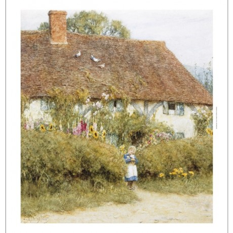 "HELEN ALLINGHAM ""Cottage At West Horsley Surrey"" CANVAS various SIZES, BRAND NEW"