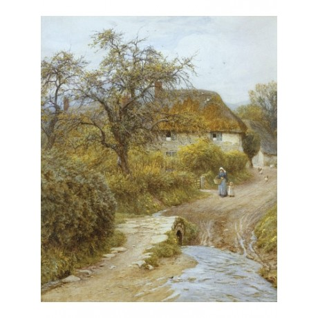 "HELEN ALLINGHAM ""Hill Farm, Symondsbury, Dorset"" CANVAS various SIZES, BRAND NEW"
