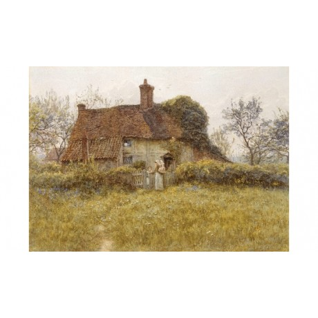 "HELEN ALLINGHAM ""A Cottage At Pinner, Middlesex"" CANVAS various SIZES, BRAND NEW"