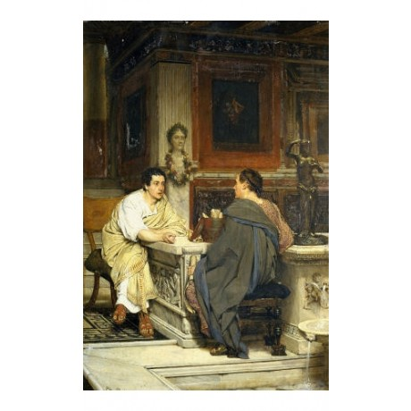 "SIR LAWRENCE ALMA-TADEMA ""Discourse"" roman print choose SIZE, from 55cm up, NEW"