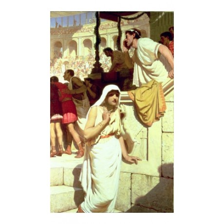 "EDMUND BLAIR LEIGHTON ""Gladiators Wife"" CANVAS ART ! various SIZES available"