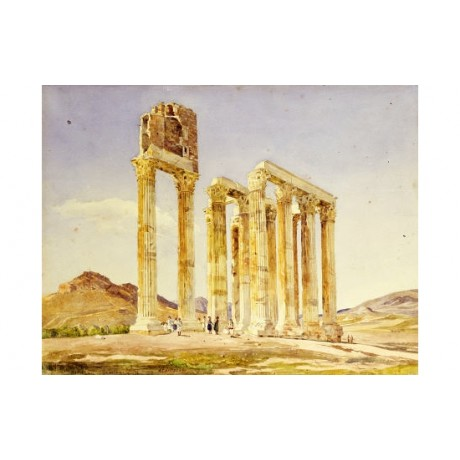 "LAVEZZARI ""Temple Of Olympian Zeus, Athens"" PRINT NEW! various SIZES, BRAND NEW"